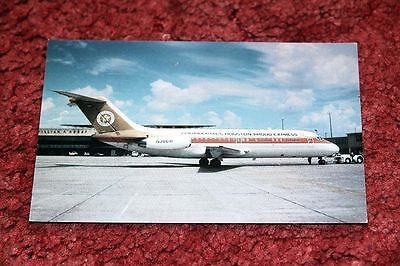 Continental Airlines Douglas Dc-9 Airline Postcard