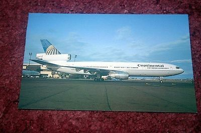 Continental Airlines Mcdonnell-Douglas Dc-10 Airline Postcard