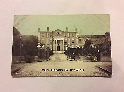 Old Postcard Of The Hospital Ipswich