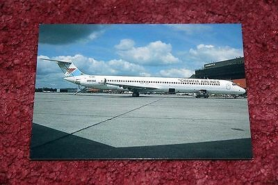 Croatia Airlines Mcdonnell-Douglas Md-80 Airline Postcard