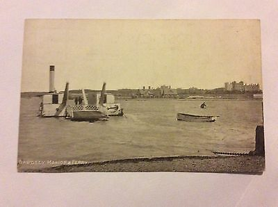 Old Postcard Of Bawdsey Manor Ferry