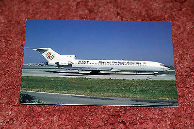 Cyprus Turkish Airlines Boeing 727-200 Airline Postcard