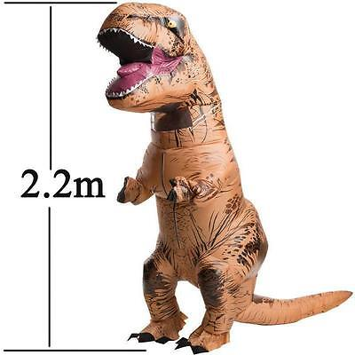 Adult T-Rex Inflatable Jumpsuit Dinosaur Blow Up Costume Outfit Stag fancy dress