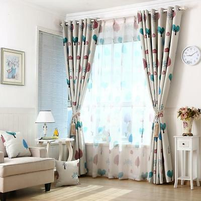 Floral Window Curtain Drape Panel Balcony Scarf Valance Voile Tulle Beige