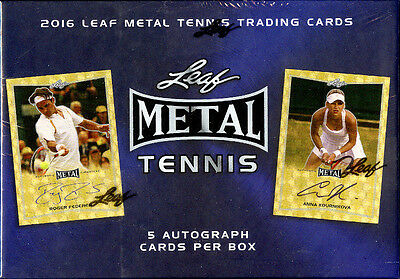 2016 Leaf Metal Tennis 12 Box SEALED Hobby Case Serena Williams Federer 1/1 ????