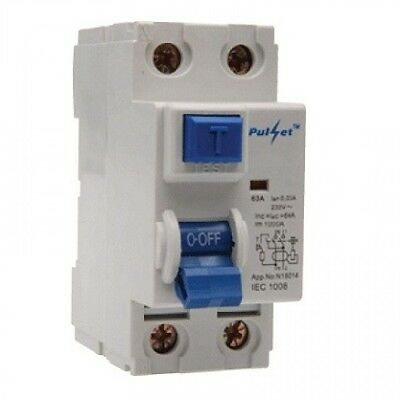 2 Pole 63Amp  RCD Safety Switch