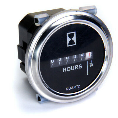 Hour Meter for Cart Marine Tractor Engine Mower Motor 6-80V DC