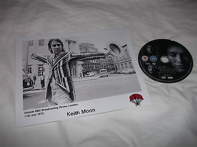 Keith Moon The Who Pete Townshend London Bbc 1973 Photograph