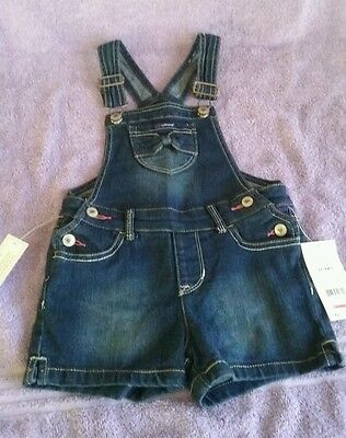 Girls  size 5T Blue Jean Jordache overall shorts New With Tags