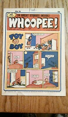 Whoopee Comic Issue No.16. From 22-6-1974.