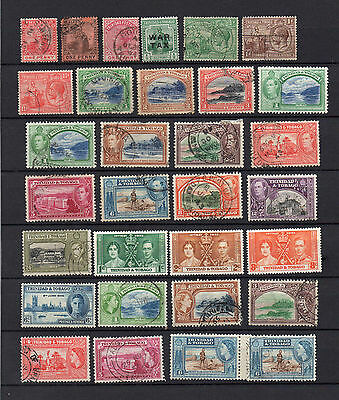 TRINIDAD and TOBAGO QV to QEII 46 DIFFERENT MH / USED STAMPS