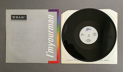 "Wham! ‎– I'm Your Man 12"" Vinyl,  Epic ‎#TA 6716, 1985"