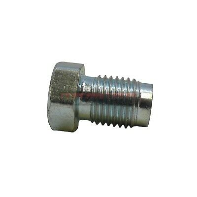 """Natural Finish Inverted Flare Plug for Double-Sided Master Cylinders 3/8""""- 24"""