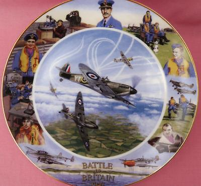 Royal Doulton Against All Odds Plane Plate Battle Of Britain 60Th Anniversary