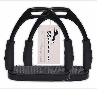 Flexi Safety Stirrups-Bendy Irons Stainless Steel Horse Riding  -Equestrian