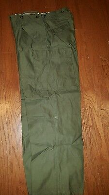 Awsm M-1953 Cotton Military Issue Field Trousers Small Reg Heavyweight Cargo