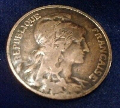 France 10 centimes 1908 108 years old coin!