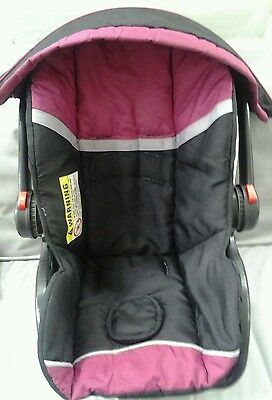 Baby Trend Ez Loc Infant Girl Car Seat Cover Cushion Canopy Black Pink Set