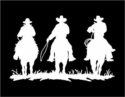 Horses and Riders Decal Cowboys Riding car truck trailer window vinyl sticker