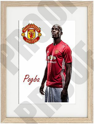 Pogba A4 Poster Truly Unique, Manchester United 2016 Old Trafford