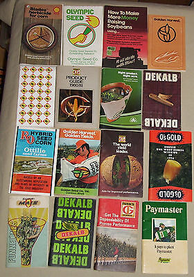 16 Agriculture Seed MEMO BOOKS FUNKS G DEKALB Os GOLD PIONEER Seed Farm Planting