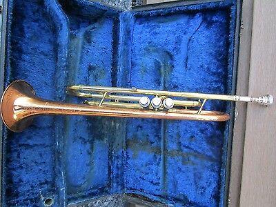 Conn Director Vintage Trumpet Used ROSE GOLD & GOLD WITH CASE #618021