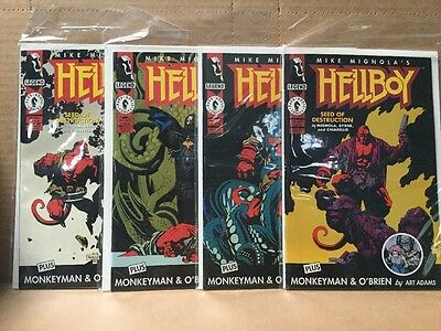 HELLBOY: SEED OF DESTRUCTION (1994) - Complete Series #s 1-4