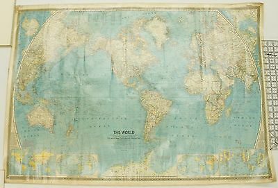The World National Geographic Magazine Vintage Map