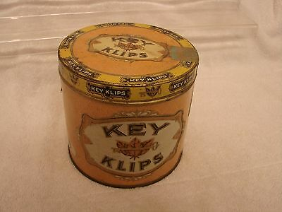Key Klips 50 Count Round Cigar Tin Factory 20 Dist. Of Ga. Raised Lettering Colo