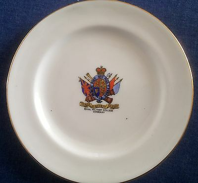 Arcadian Crested China. Royal Military College Camberley. Plate.