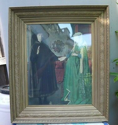 Antique large carved timber + gilt picture frame in exlt cond. 6cms deep 5 kilos