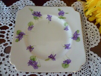Royal Doulton Violets Pattern Bread & Butter Plate Dated 11 - 1939