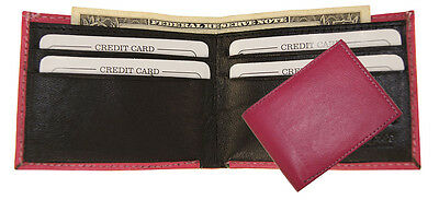 AG Wallets Kids Leather Small Thin Bifold Cute Mini Wallet Hot pink Gift Idea