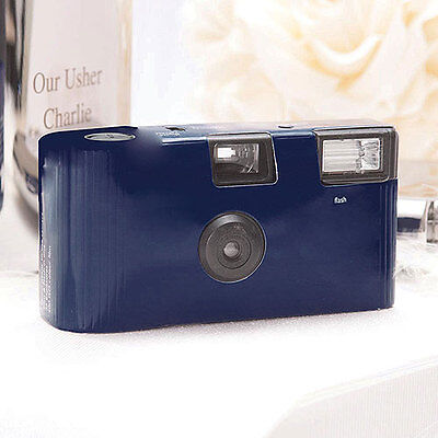 10 Solid Navy Blue Disposable Wedding Table Camera Cameras Lot Q17287