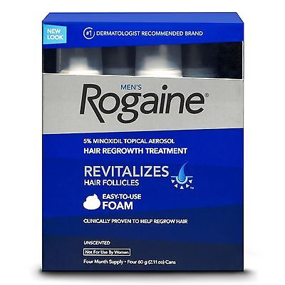 Rogaine Hair Regrowth for Men 5% Minoxidil Topical Foam, ( 2.11 oz., 4 ct )