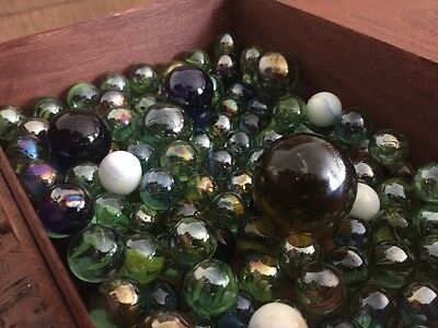 Vintage Retro ~1KG  100+++ Marbles Toy Classic Collector - includes Large Jumbo