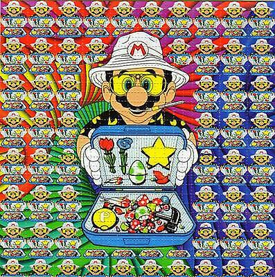 MARIO HST Hunter Thompson BLOTTER ART sheet page tabs Acid Free Art psychedelic