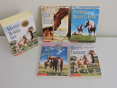 Scholastic Misty of Chincoteague Boxed Set 4 Books Sea Star Stormy Horse Pony