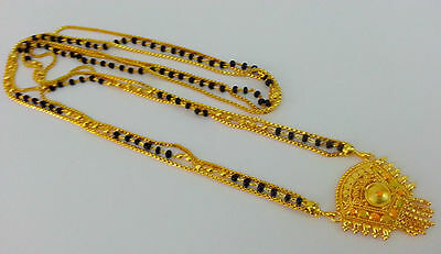 """New Indian Bridal Skirt Jewelry 22KGP Mangalsutra Enamel Chain Necklace 30"""" #800"""
