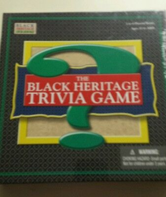 """""""the Black Heritage Trivia Game""""  New, Sealed!!!"""