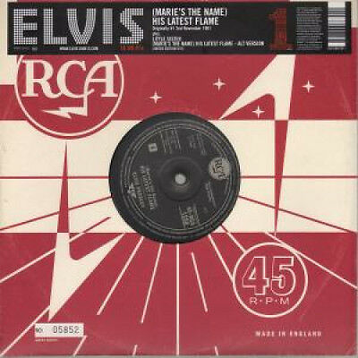 """ELVIS PRESLEY His Latest Flame 10"""" VINYL UK Rca 2005 3 Track In Numbered"""