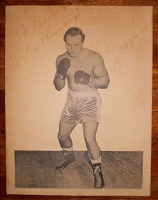 Boxing DAVE ZYGLEWICZ Signed Photo Print HEAVYWEIGHT CONTENDER Houston, TX ZIGGY