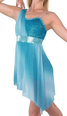 A Wish Come True Blue Ombre Lyrical Dress Size LC 12 - 14