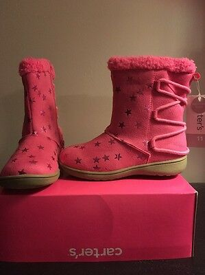 New Toddler Girl Size 11 Pink Boots By Carter's - Retail $44.99