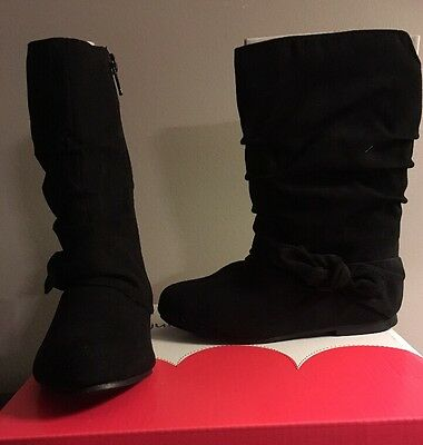 New Toddler Girls Size 10 Black Boots - Retail $44.99