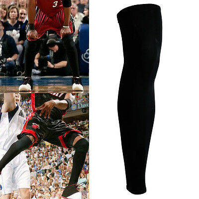 The Elixir Sports Leg Sleeves Compression Basketball Protection Black Pair Heat