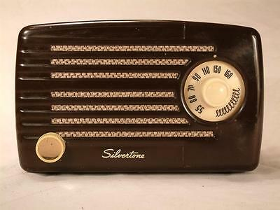 Restored Silvertone 2 compact tube radio - great little performer