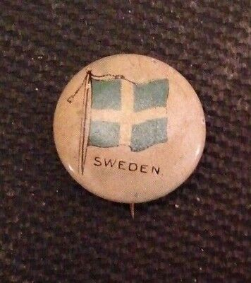 RARE 1917 Flag of Sweden Pin - Sealect A Dairy giveaway - 99 yrs. old