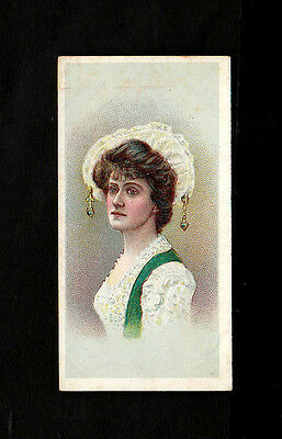 "B.a.t 1908 Superb ( Beauty ) Type Card "" Beauties -- Tobacco Leaf Back """