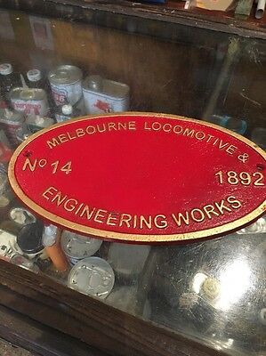 Melbourne Locomotive Repro Cast Plaque